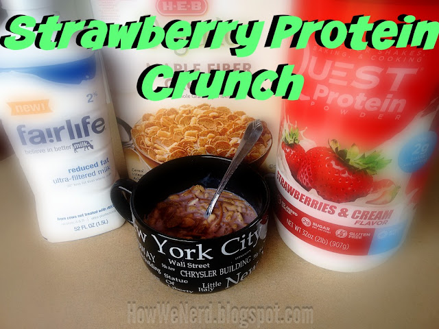 HWN: Strawberry Protein Crunch. High Protein and Stupid Simple.