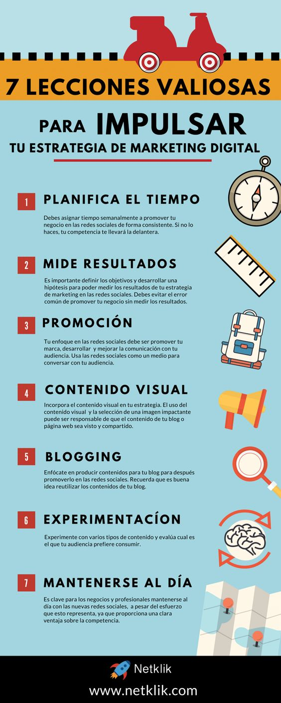 7 lecciones valiosas para impulsar tu estrategia de marketing digital