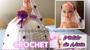 Vestido de Novia Crochet para Barbie / Tutoriales