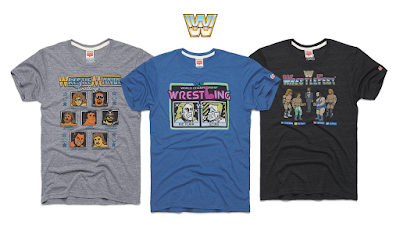 WWE Retro Video Game T-Shirt Collection by HOMAGE