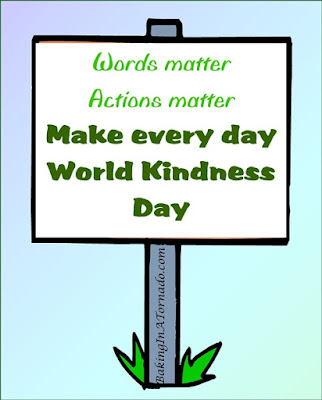 World Kindness Election Day, a discussion about kindness on the day of midterm elections | Graphic property of BakingInATornado.com | #kindness #politics
