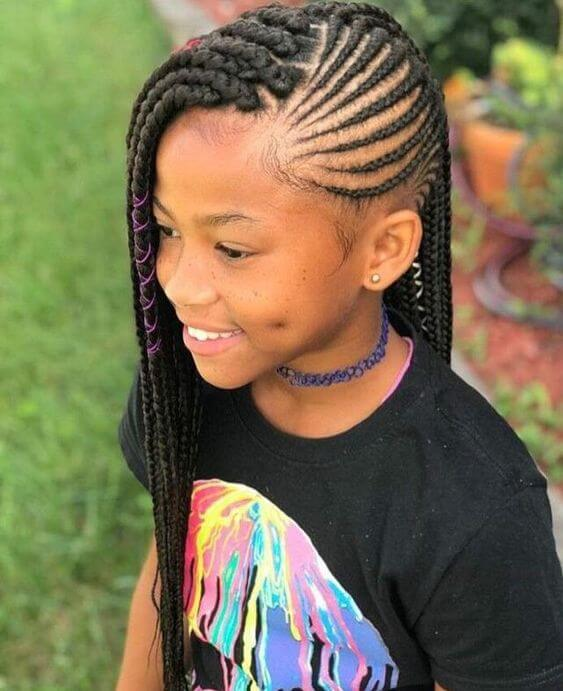 Outstanding 39 Latest Box Braids Ponytails For Little Girls To Make African Natural Hairstyles Runnerswayorg