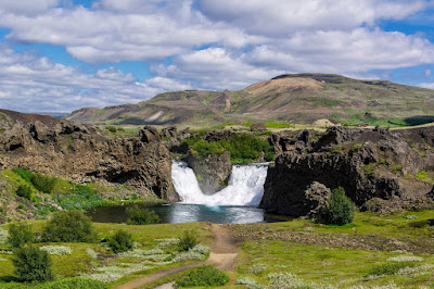 The amazing waterfalls in Þjórsárdalur - South Iceland