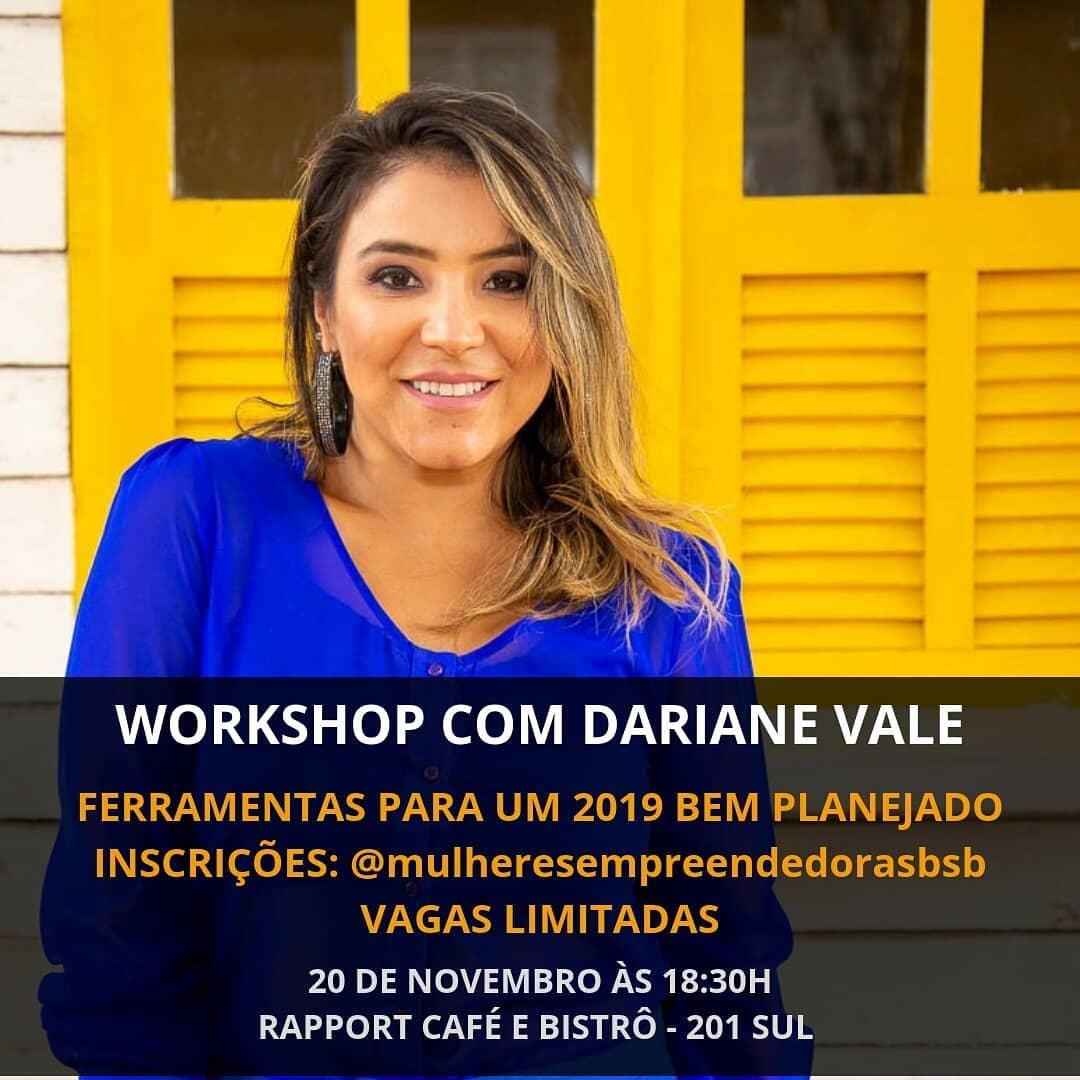 Convite: Workshop Ferramentas para um 2019 bem planejado