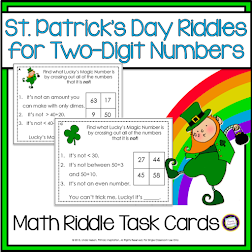 St. Patrick's Day Math Riddles