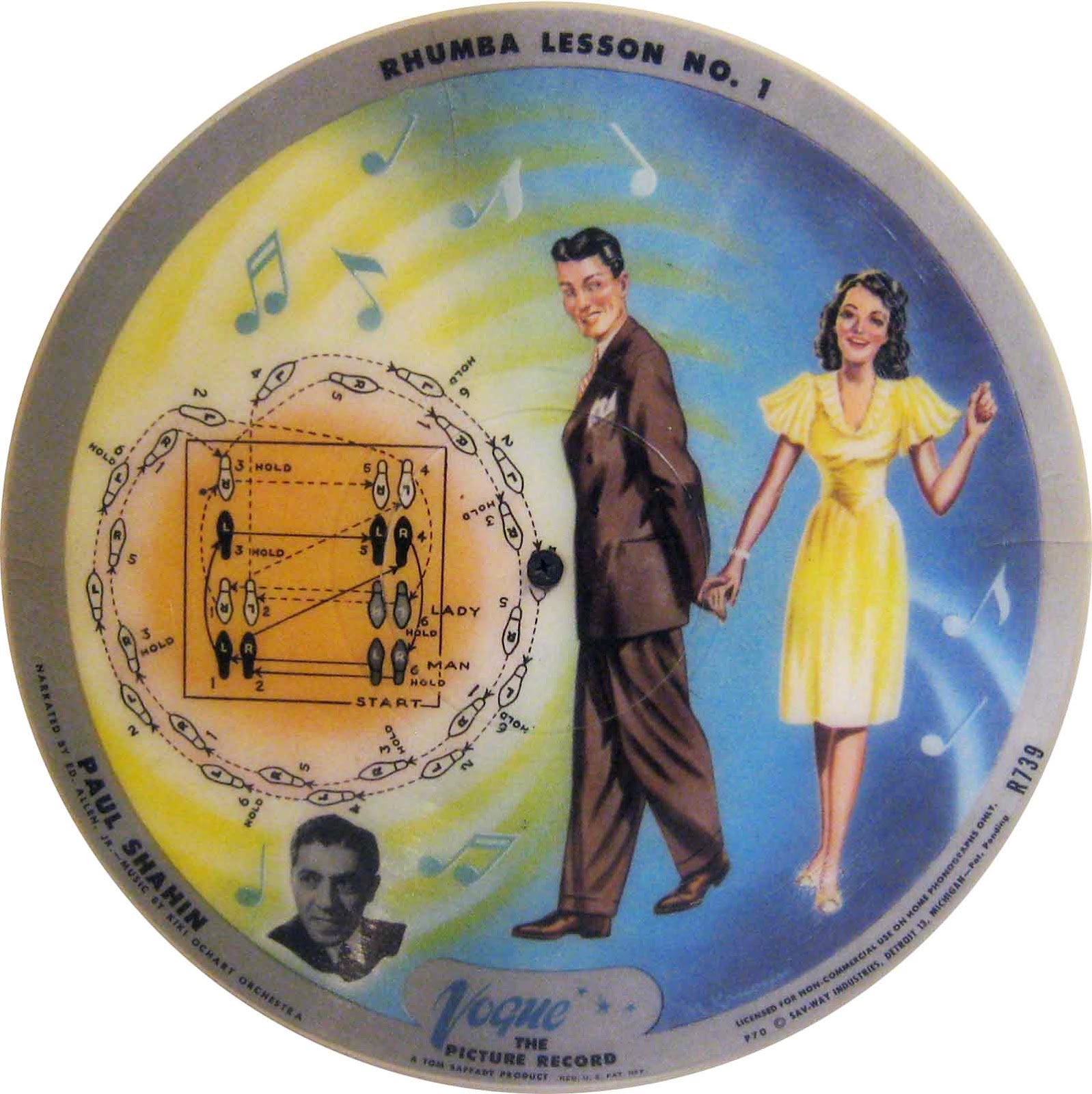 Rhumba lesson record shows dance steps