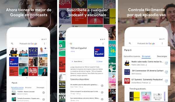 Google Podcasts para Android