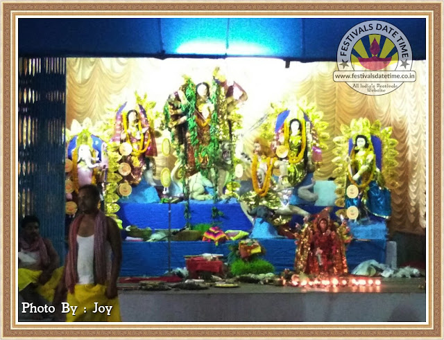 2016 Mathions, Dhanbad Durga Murti Photo in Jharkhand