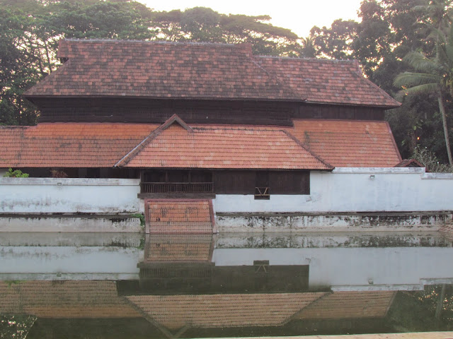 temple pond in Krishnapuram old palace - Alappey Kerala