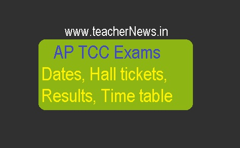 AP TCC Exam Results Hall Tickets 2019 Exam Dates Download