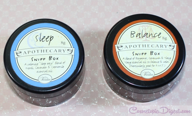 Les Floralies Apothecary Sniff Boxes for Sleep and Balance