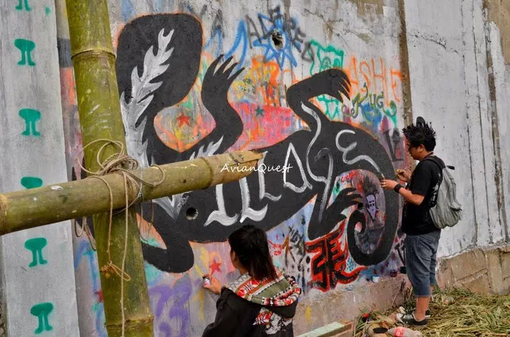 Tamawan Village Making of a Graffitti Mural Baguio City Philippines 9