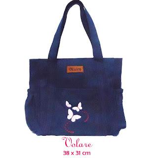 tas wanita, tas bahu wanita, tas bahan jeans, aplikasi bordir, produsen tas wanita