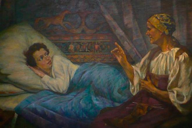 пушкин и арина родионовна картинки бурков