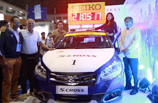 Superstar Parvatii Nair unveils the Maruti S-CROSS Lead Car