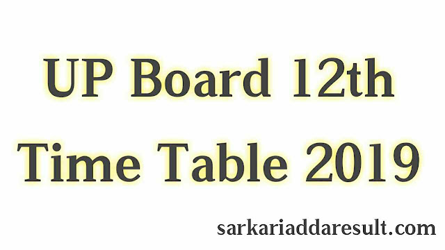 UP Board 12th Time Table