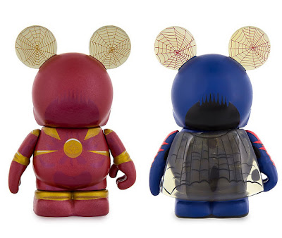 Spider-Man Vinylmation Iron Spider & Spider-Man 2099 Eachez Vinyl Figures by Disney x Marvel