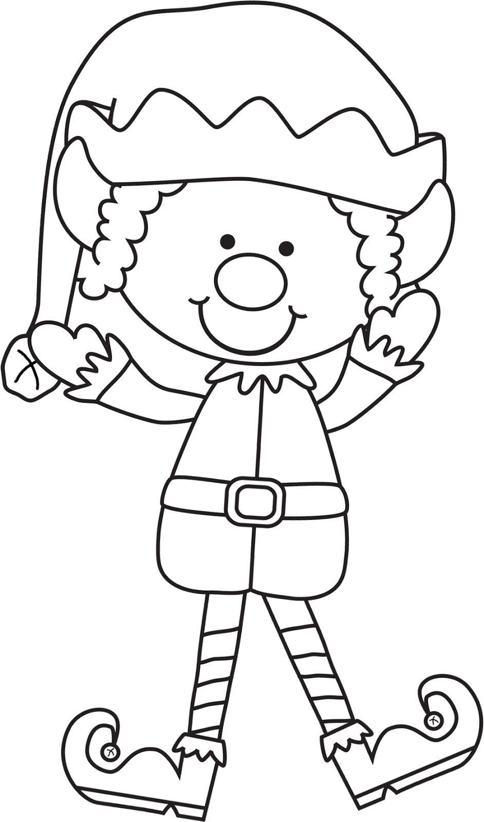 It's just a picture of Obsessed Elves Coloring Page