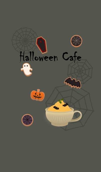 Halloween cafe + khaki [os]
