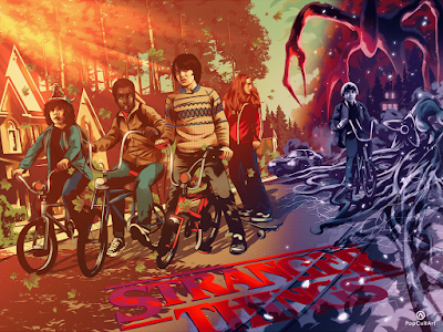 Stranger Things Original Edition Fine Art Giclee Print by Alexander Wells x PopCultArt