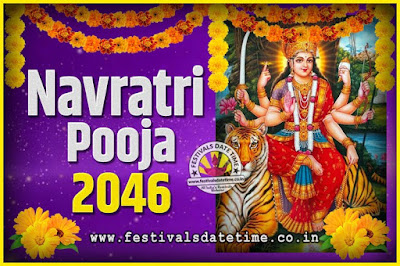 2046 Navratri Pooja Date and Time, 2046 Navratri Calendar