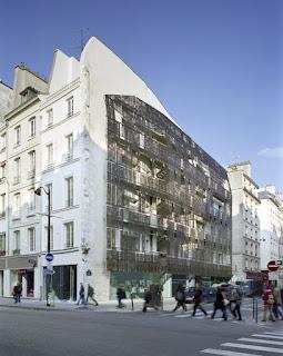 Chartier-Corbasson : logement sociaux au 1 rue deTurenne sur mur pignon