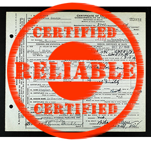 Check your list of sources. Which ones aren't certified reliable?