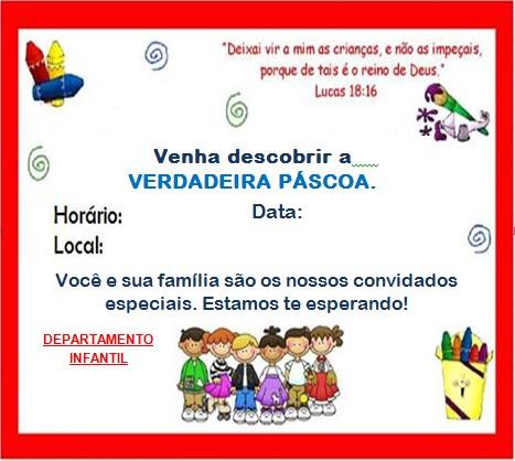 Ministério Infantil Semeando A Salvação Modelo De Convite
