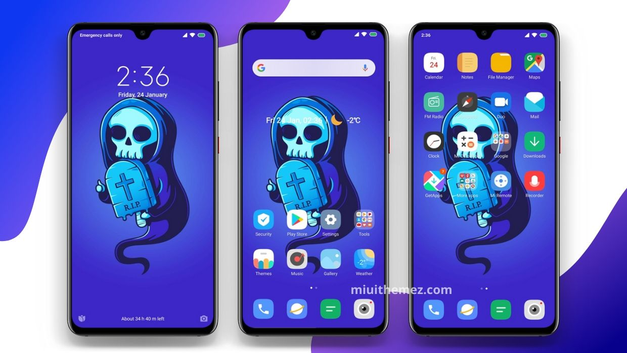 Blue And Dark v11 MIUI Theme