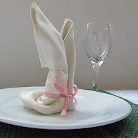 how to make napkin bunny