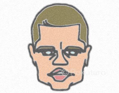 ハリウッドスターの有名な芸能人タレントのイラスト/illustrationや似顔絵/easy drawingsを簡単に。ブラッド・ピット/Brad Pitt。