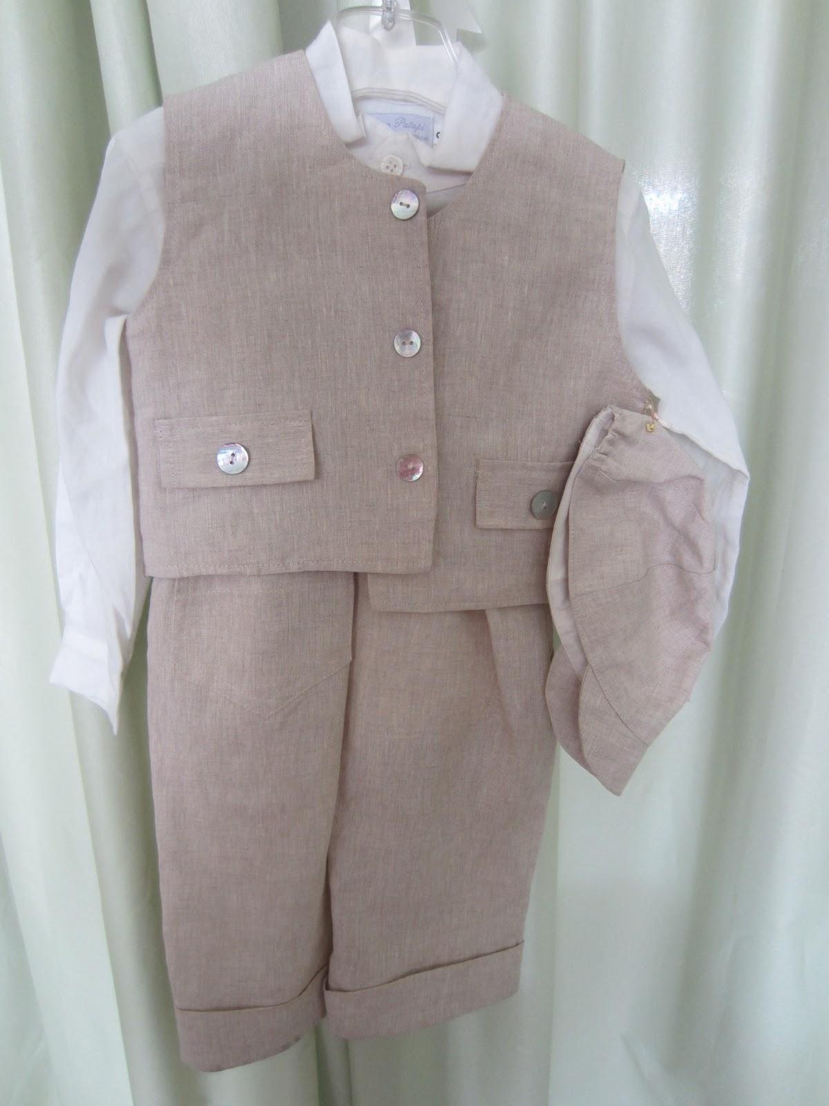 a74928981f3 Παντελόνι, πουκάμισο, γιλέκο και καπέλο, λινά. Νο 2. Τιμή: 40 ευρώ.