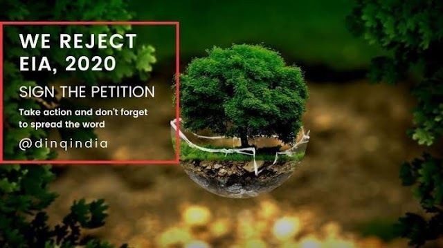 Strong Protest: Withdraw EIA 2020; India Not For Sale; Rahul Gandhi against Dangerous environmental destruction