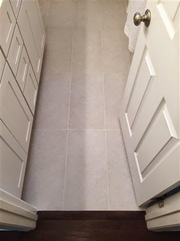 12x24 tile in small bathroom home