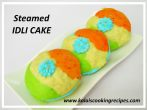Steamed Tri Colour Idli Cake