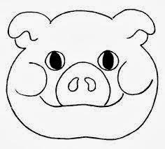 Mascaras Dos Personagens Do Tres Porquinhos Ensinando Com Carinho