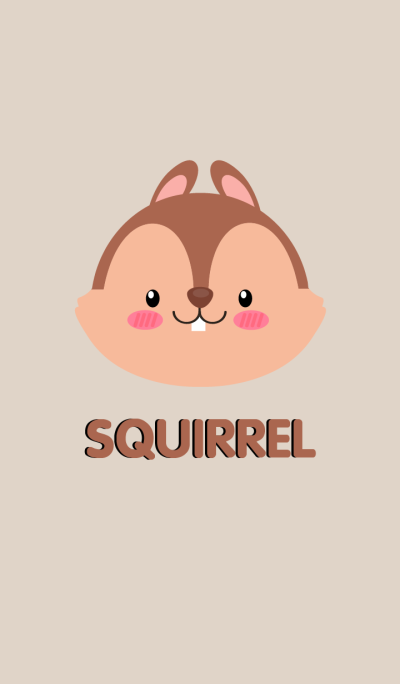Simple Cute Face Squirrel Theme