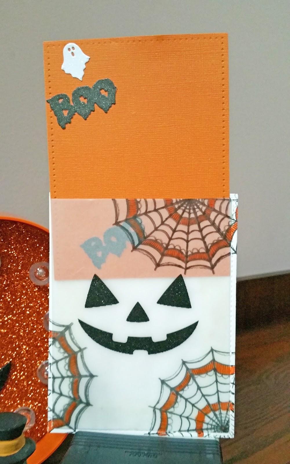 come craft w/me : halloween card 3 - jack-o-lantern envelope