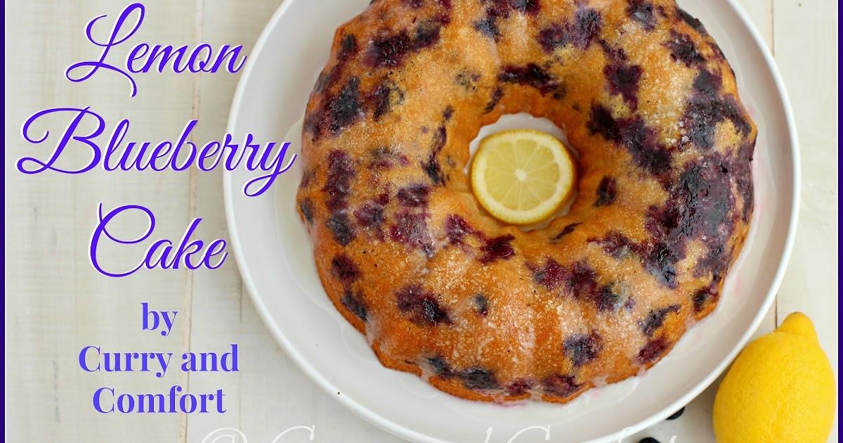 Lemon Bundt Cake With Blueberry Sauce