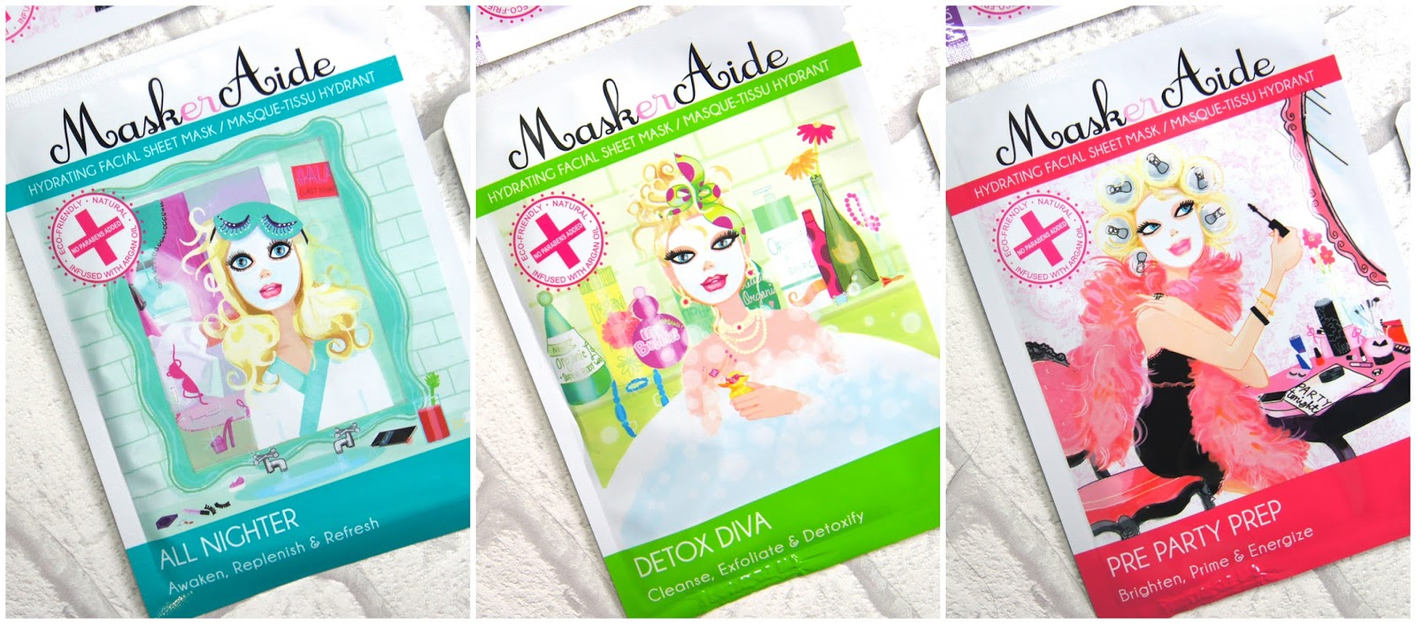 maskeraide sheet masks review all nighter detox diva pre party prep