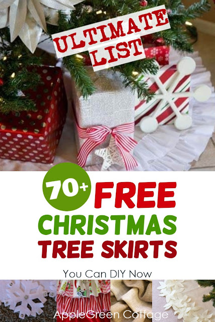 Christmas tree skirts to diy now – more than 70 free tree skirt sewing patterns and tutorials and no-sew diy tree skirt ideas – check them out and find your absolutely favorite Christmas tree skirt to make for holidays!
