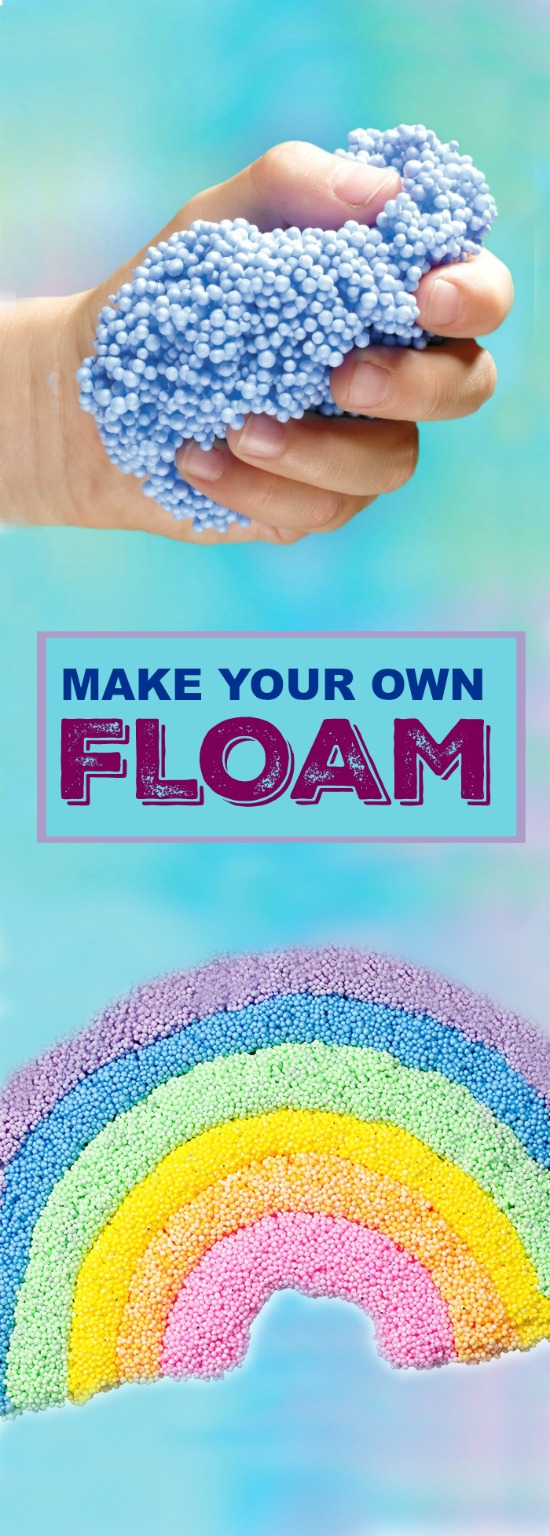 FLOAM- the most fun play material ever!  Make your own with this easy recipe