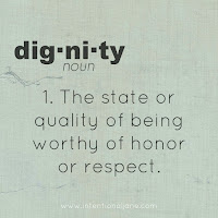 Dignity and Respect states it is to make sure that people using the service are treated with respect and dignity always while they are receiving care and treatment.