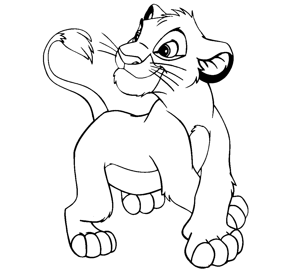Disney Cartoon The Lion King For Kid Coloring Drawing Free