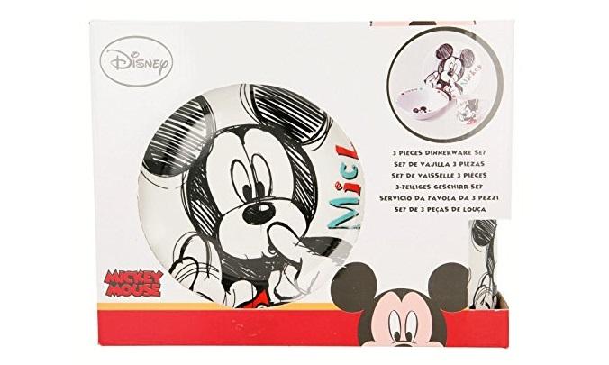 Vajilla cerámica de tres piezas Mickey Mouse - Stor