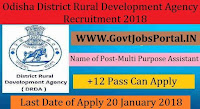 Odisha District Rural Development Agency Recruitment 2018– 73 Multi Purpose Assistant
