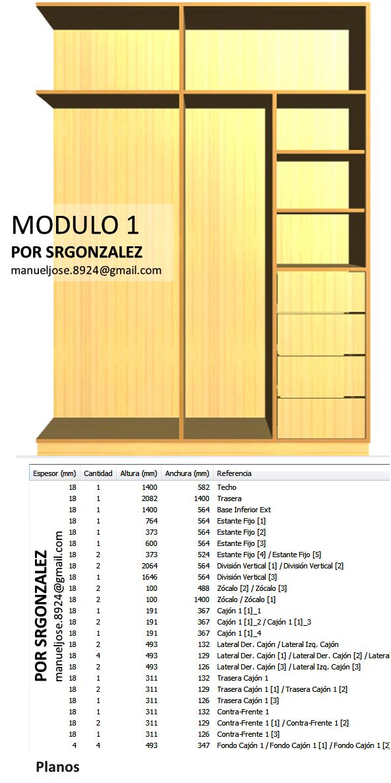 Dise o de muebles madera crear y dise ar un vestier o armario en forma l - Disenar un armario empotrado ...