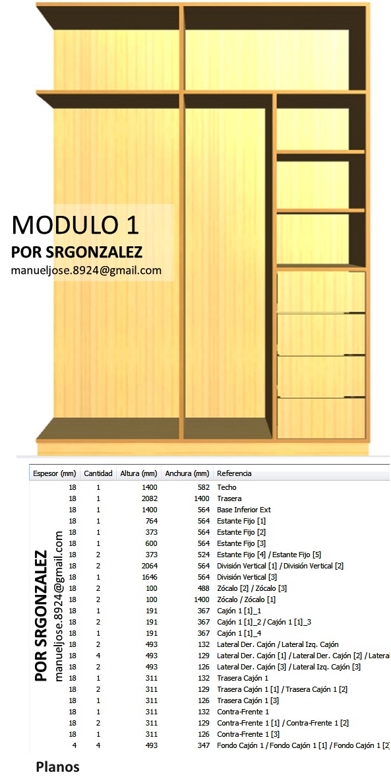 Dise o de muebles madera crear y dise ar un vestier o for Como hacer un closet moderno