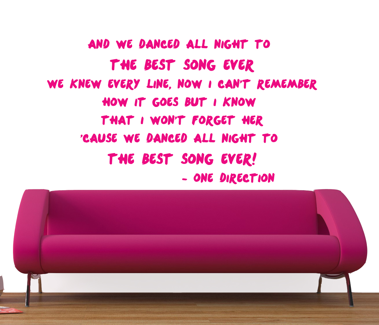 Sophie Jenner Wall Stickers 1d One Direction Lyrics Wall Stickers