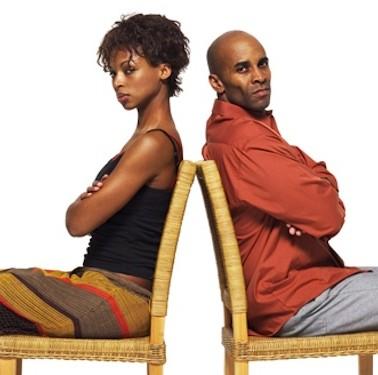 Black man black woman